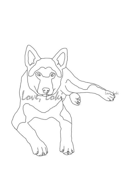 coloring pages of german shepherd puppies german shepherd dog coloring page from loveloki on etsy