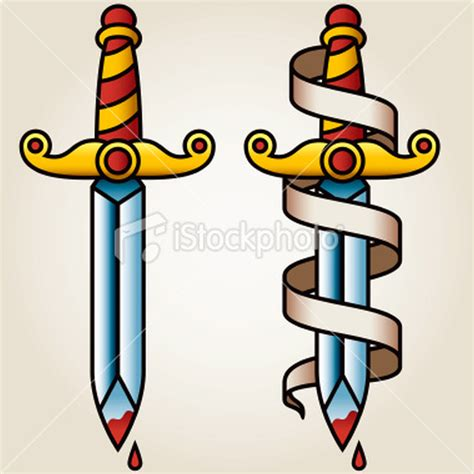 classic dagger n banner tattoo design tattoos book 65