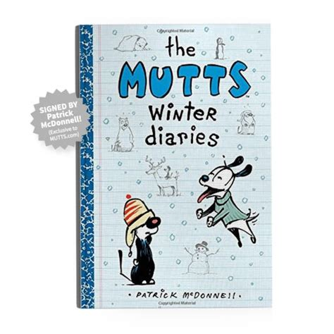 the mutts diaries mutts books signed the mutts winter diaries book mutts