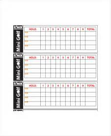 golf scorecard template 8 free word excel pdf
