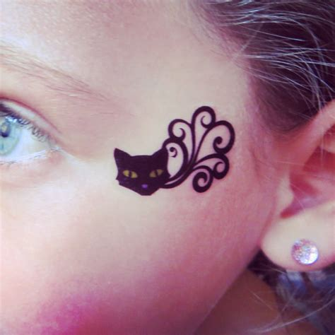 cat tattoo buzzfeed 23 temporary tattoos that make halloween makeup easy