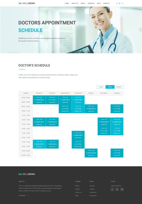 well being health psd template by themepassion