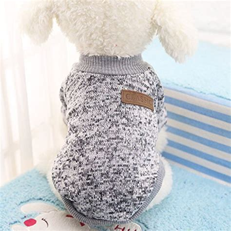 yorkie soft coat classic sweaters pet puppy warm clothes winter soft cat jacket