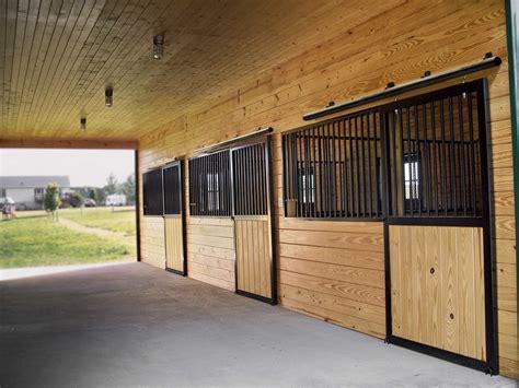 Installing A Sliding Barn Door Horse Stalls Horse Barn Building Materials From A B Martin