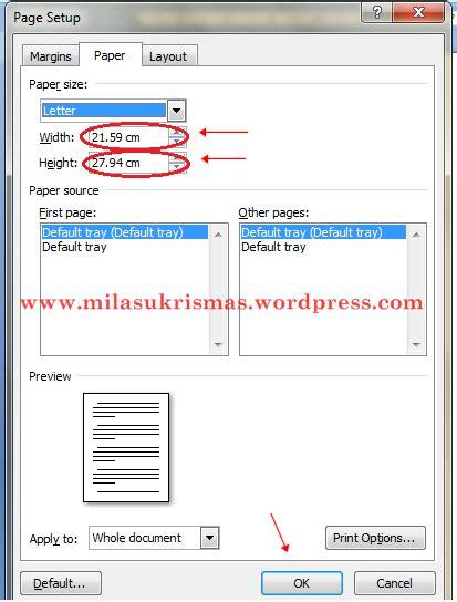 ukuran page layout untuk makalah tips mengubah ukuran kertas dan margin di microsoft word