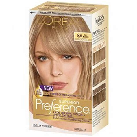 loreal preference medium ash blonde review youtube l oreal preference 8a ash blonde haircolor wiki fandom