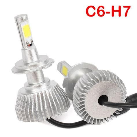 Lu Mobil Led C6 H7 Cob 2pcs joyshine c6 h7 led headlight bulbs 60w 6000lm 6000k bright cold white free shipping dealextreme