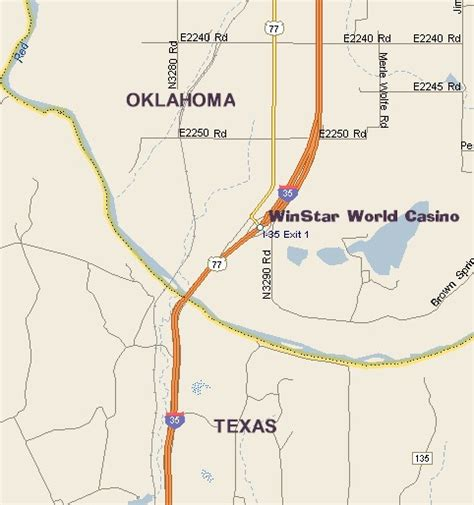 texas casinos map winstar world casino map