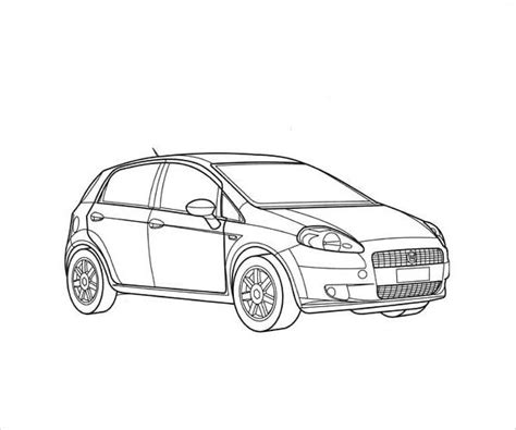 simple coloring pages of cars 9 car coloring pages jpg ai illustrator download