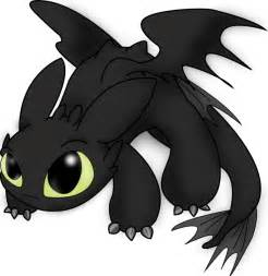 toothless cute dragon clipart