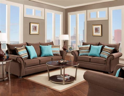 Fabric Living Room Sets Jitterbug Cocoa Sofa And Loveseat Fabric Living Room Sets