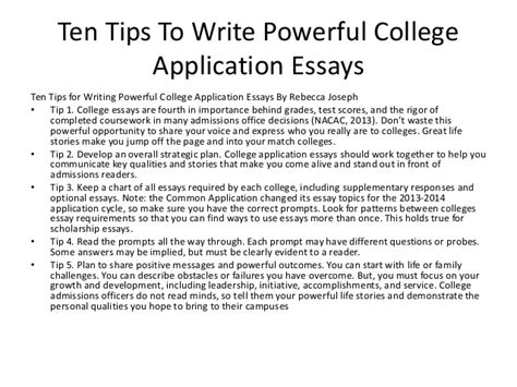 College Application Essay About Influential Person Tips For Writing College Essays Daily Writing Tips