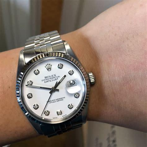 Rolex White rolex 16014 datejust white stainless steel