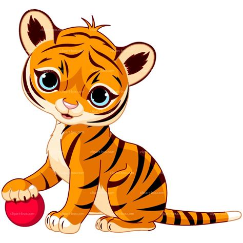 Baby tiger clipart image 17767