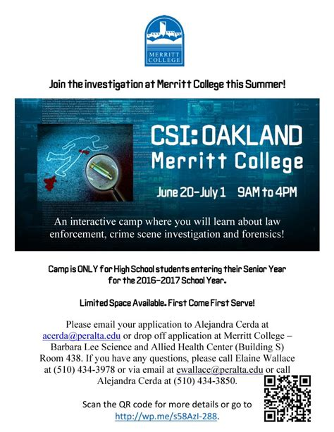 oakland high school students register now for csi