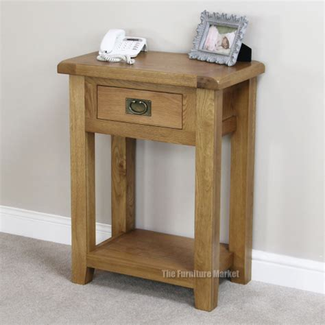 Small Telephone Table With Drawer by Cheshire Oak 1 Drawer Telephone Table Small Compact