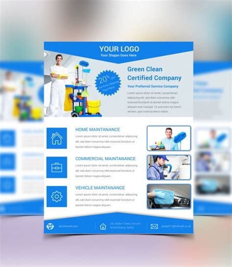 27 Cleaning Service Flyer Designs Psd Vector Eps Jpg Download Freecreatives Cleaning Service Template