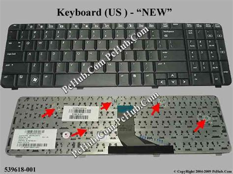 Keyboard Compaq Presario Cq61 compaq presario cq61 series keyboard sps 539618 001