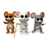 3 Blind Micr Three Blind Mice At A Bar Bear Tales