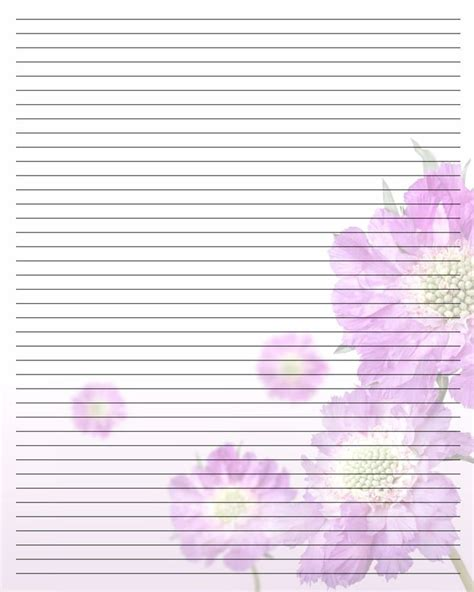 lined paper with plant border floral lined printable stationary printable stationery