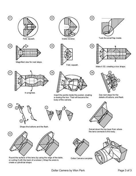 Money Origami Steps - diagram 3 of 3 money origami dollar bill