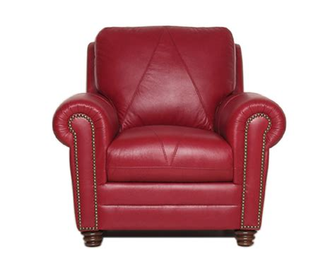 Weston red leather chair by luke leather furniture