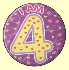 Bday Decorations At Home 4th Birthday Badge Pink Hearts Party Wizard