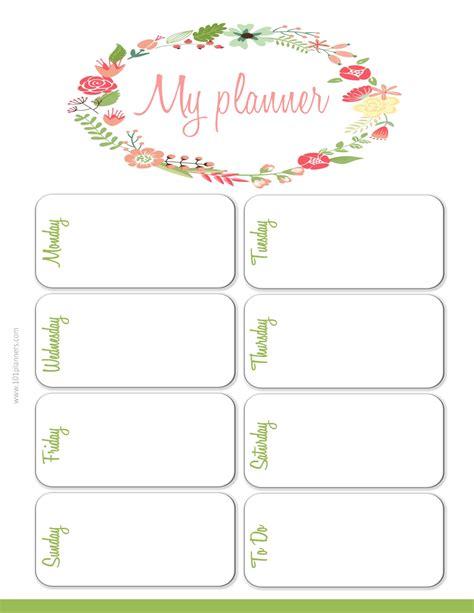 weekly planner calendar template weekly planner