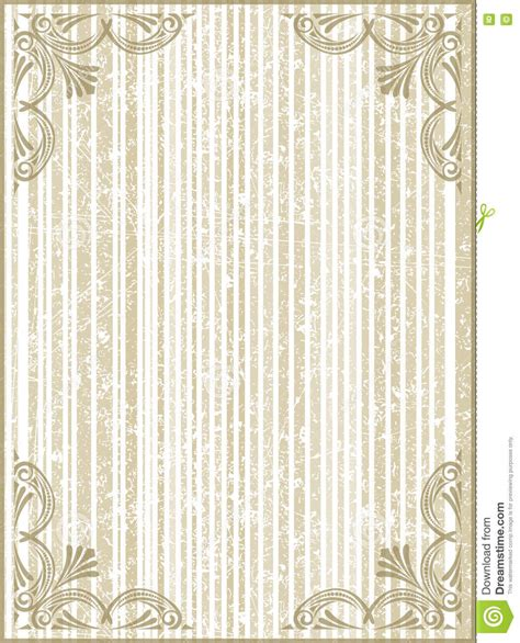 vintage note card template frame with cracked striped background in gentle tones