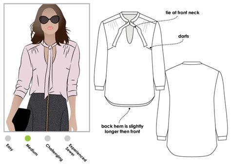 blouse pattern making pdf holly woven blouse pdf style arc