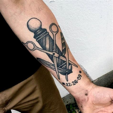 barber pole tattoo designs 70 scissors designs for sharp ink ideas
