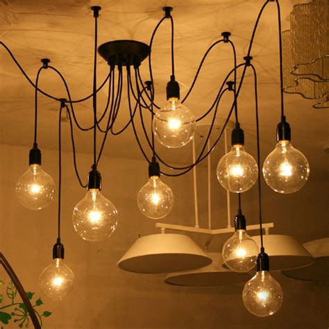Diy Bulb Chandelier Mordern Nordic Retro Edison Bulb Light Chandelier Vintage Loft Antique Adjustable Diy E27