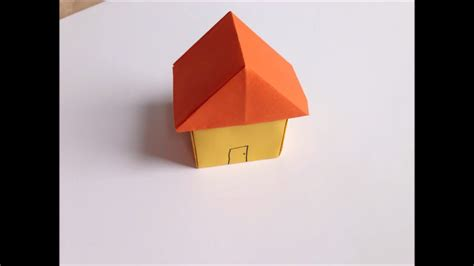 Folded Paper House - easy origami paper house crafts paper crafts how