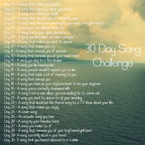 day song 8tracks radio 30 day song challenge 28 songs free