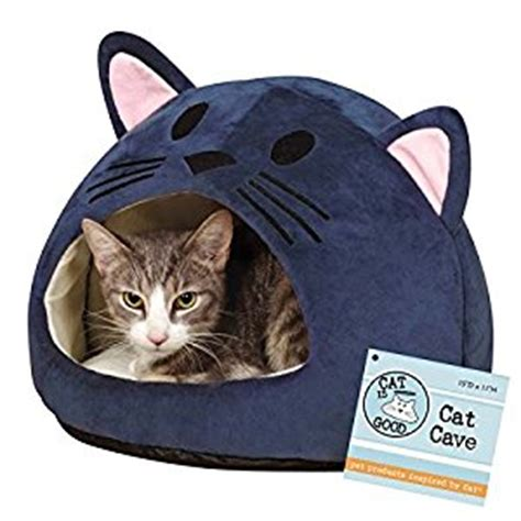 cat is good cat bed cave amazon co uk pet supplies