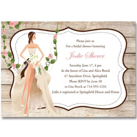 vintage garden country bridal shower invitations ewbs052 as low as 0 94 laser cut