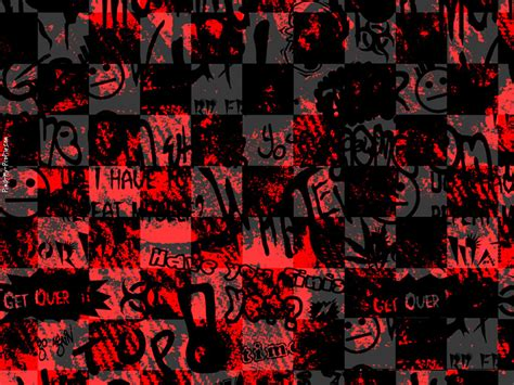 graffiti emo wallpaper black red checkers emo graffiti facebook timeline