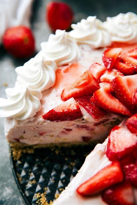 Cheesecake Cheese Cake Strawberry Pie Halal no bake strawberry cheesecake pie chelsea s