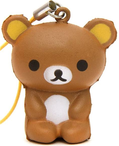 Cheap Cutlery Sets brown sitting rilakkuma bear squishy cellphone charm