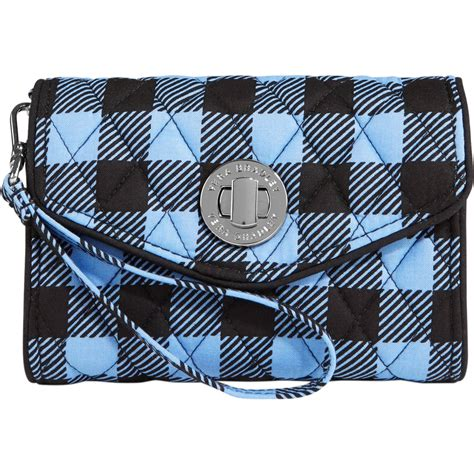 vera bradley  turn smartphone wristlet alpine check shop  pattern shop  exchange