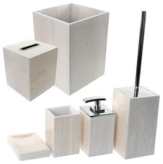Contemporary Bathroom Accessory Sets Wooden 6 White Bathroom Accessory Set Contemporary Bathroom Accessory Sets By