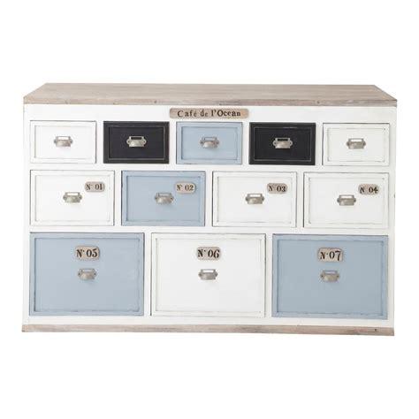 comptoir du meuble comptoir multi tiroirs meuble de m 233 tier en bois blanc l