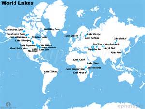 Great Rivers Of The World Map by World Lakes Map Lakes Map Of The World Lakes Of World