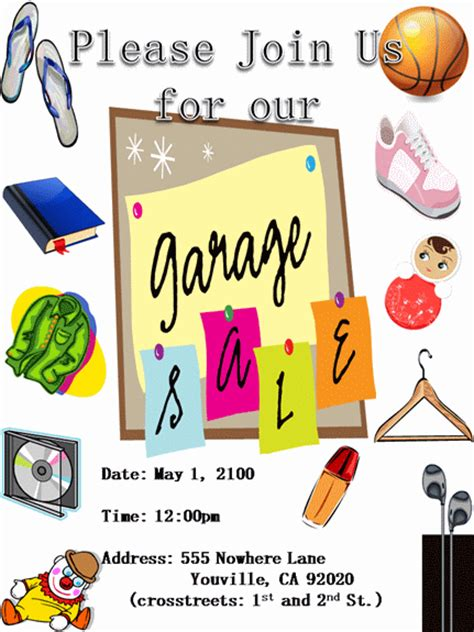 Garage Sale Template Free by 15 Free Yard Sale Flyers Of Great Help Demplates