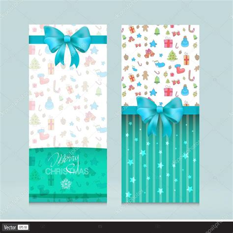 creative greeting card vector creative greeting cards with bows flyer