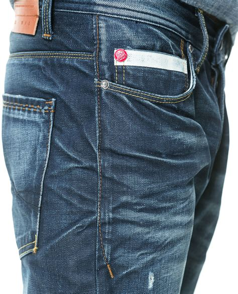 zara patterned jeans zara printed jeans with coin pocket in blue for men dark