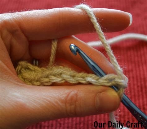 knitting second row crochet for knitters chain stitches and single crochet