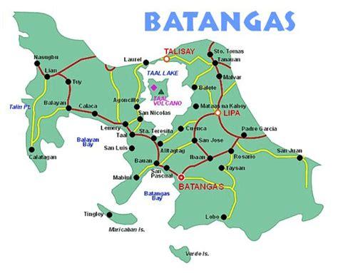 matabungkay resort map batangas tourist map batangas mappery