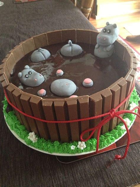 pig  mud cake hippos  mud cakes pinterest birthday cakes birthdays