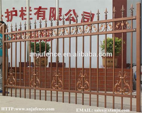 prefab fence sections decorative prefabricated steel fence for villa and garden